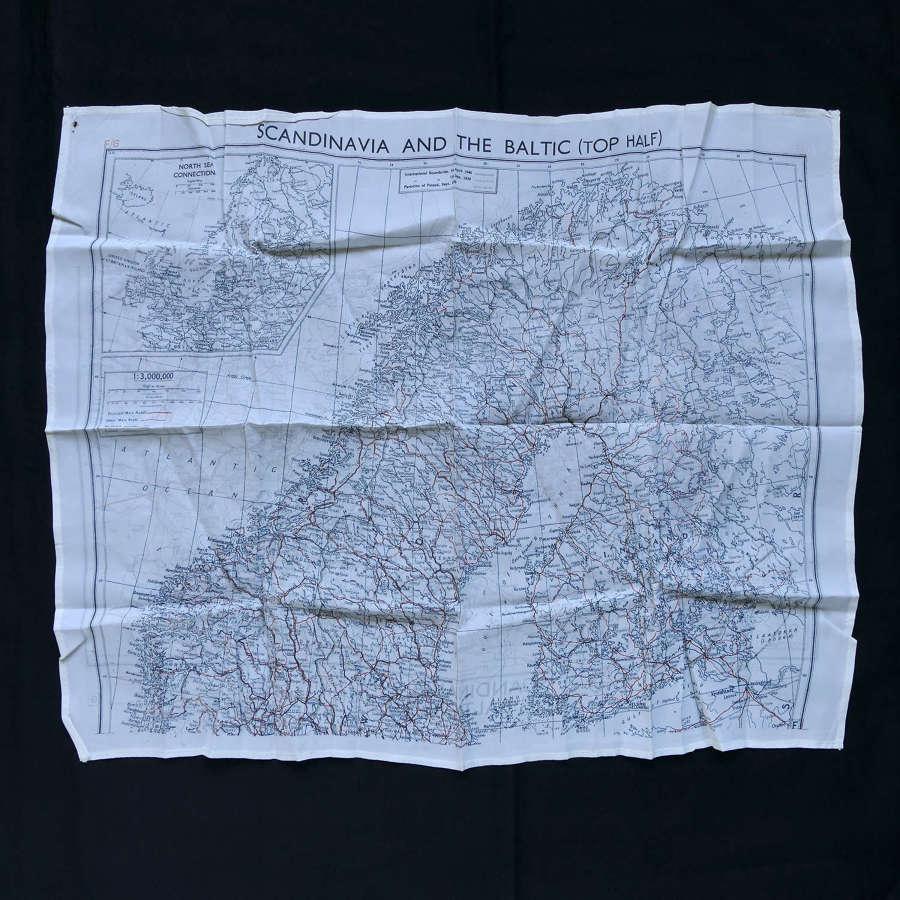 RAF escape & evasion map, Scandinavia & Baltic