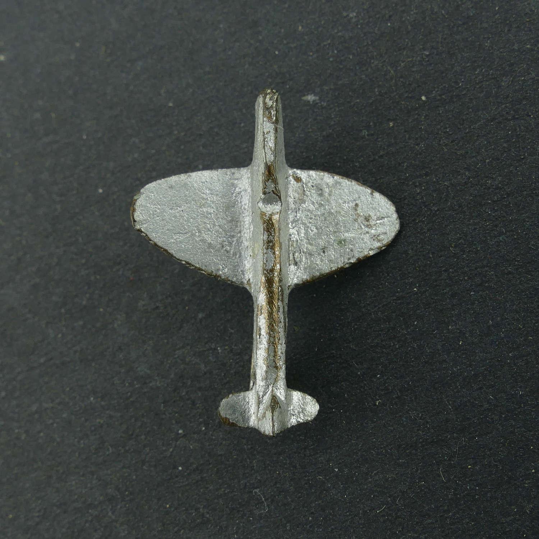 Fighter aircraft pin badge
