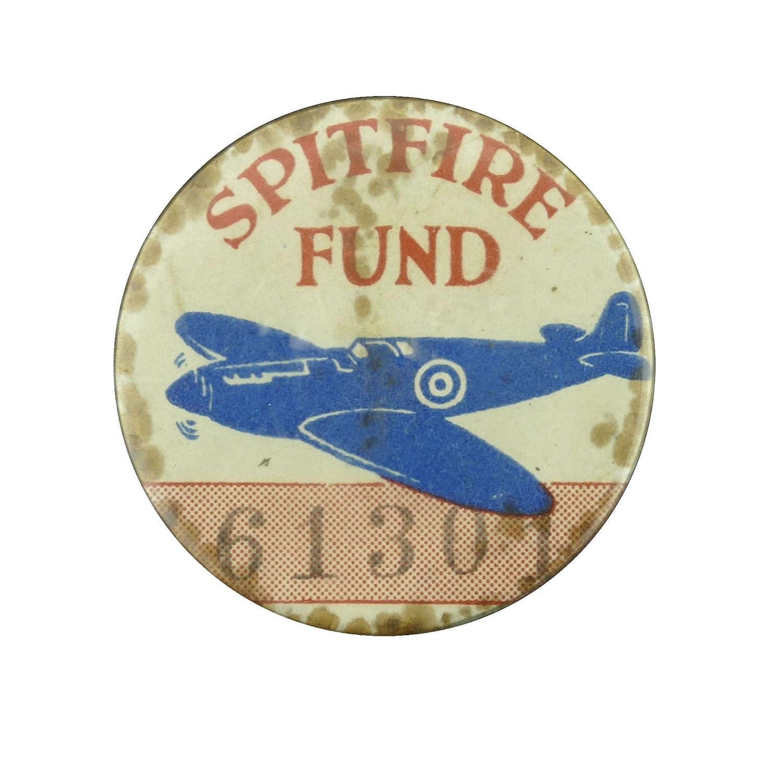 Spitfire Fund lapel badge