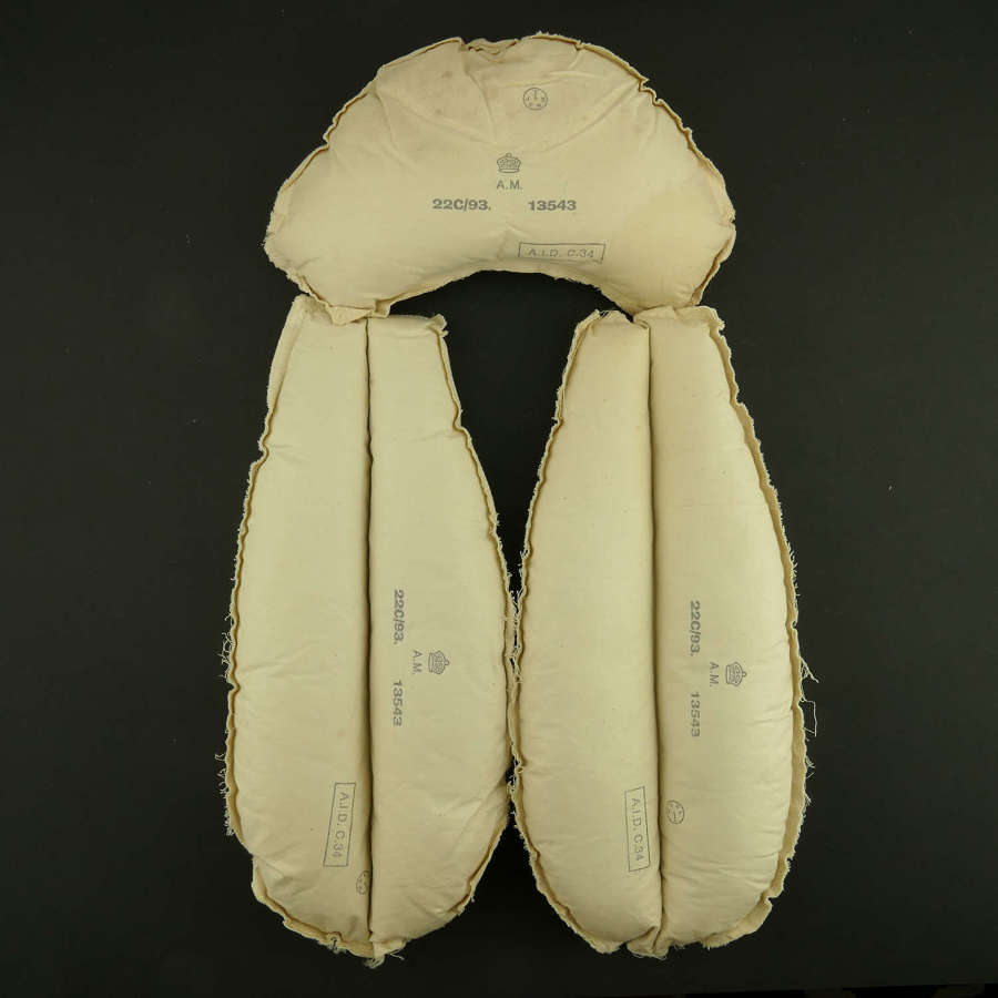 RAF 1941 pattern Mae West kapok pads - Reproduction
