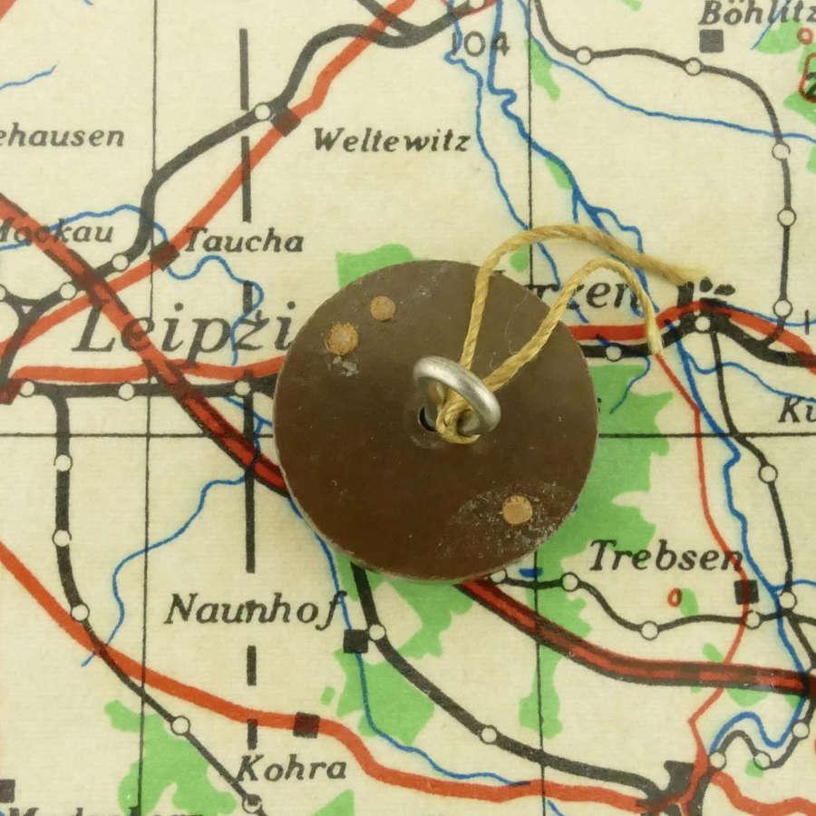 RAF / SOE bakelite escape & evasion button compass