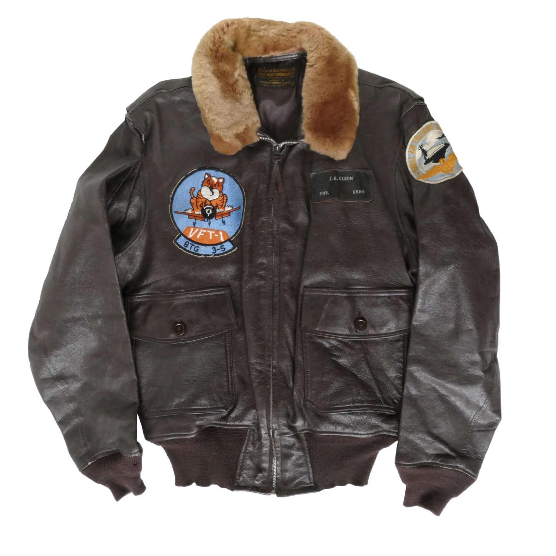 USN G-1 flying jacket, c.1950s, named