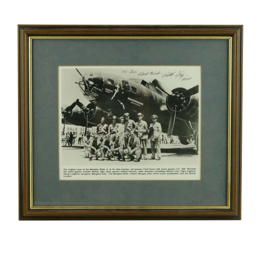 Photo of the Memphis Belle - signed by the pilot