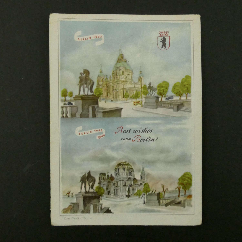 German / Berlin postcard - 1945/6