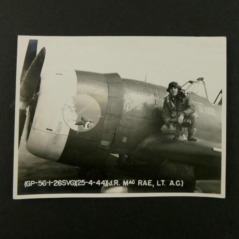 USAAF 9th AAF 366th FG nose art photograph