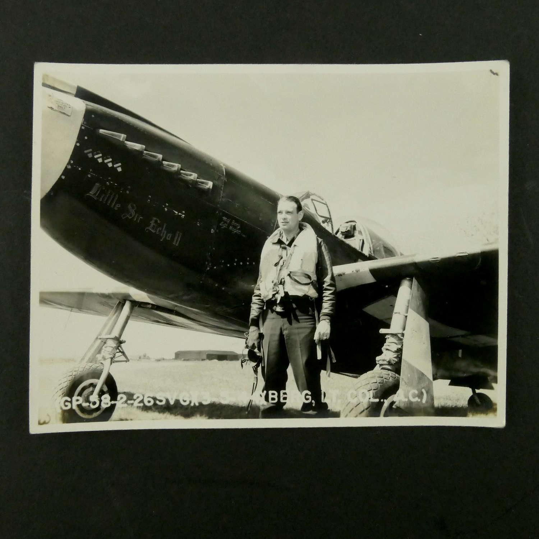 USAAF P-51 Mustang nose-art photograph