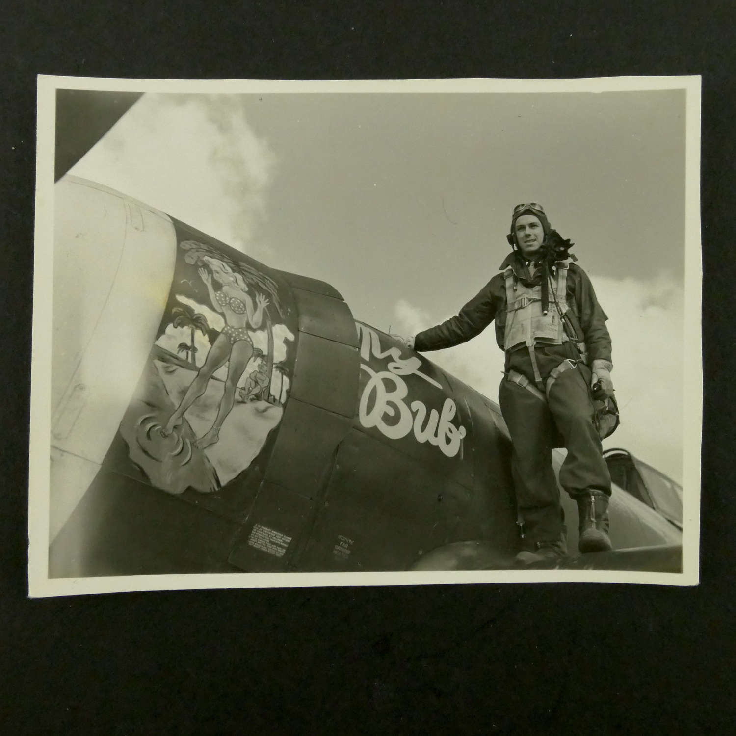 USAAF 9th AAF, 366th Fighter Group nose art photograph