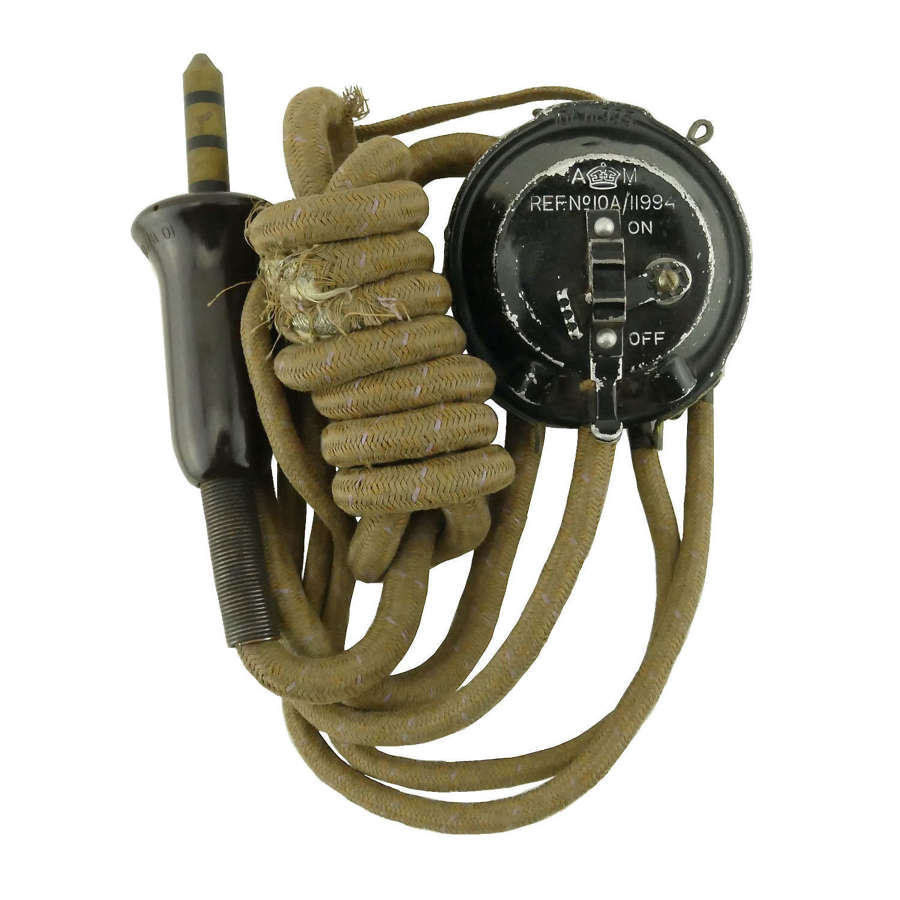 RAF external wiring loom with attached type 20 microphone