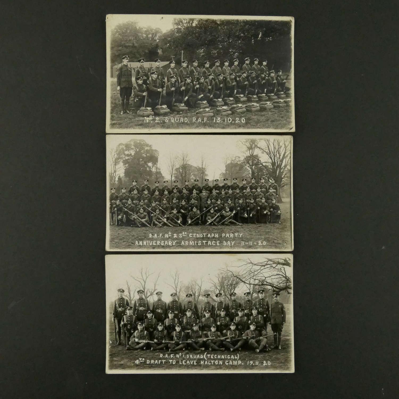 RAF photos x3 c. 1920