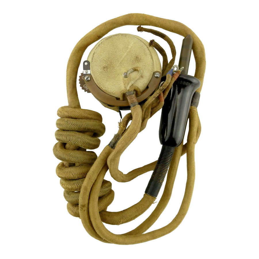 RAF external wiring loom c/w type 19 microphone - part reproduction