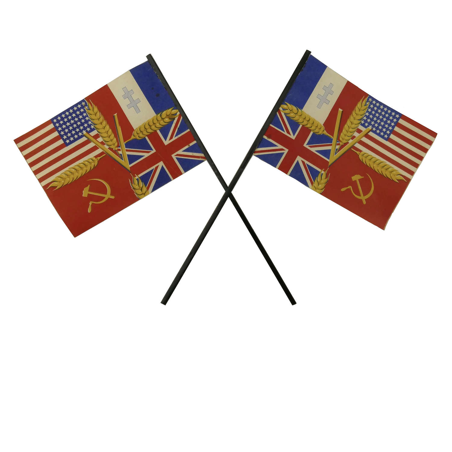 Home Front Allied Forces flags