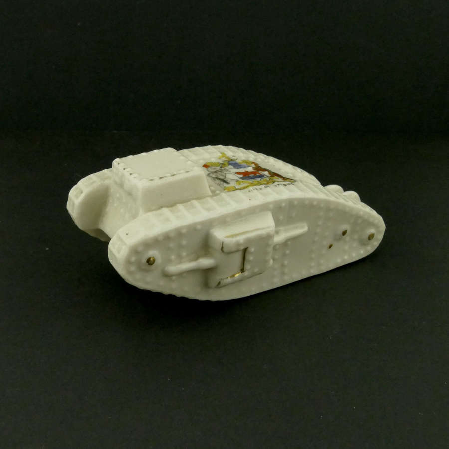 WW1 crested china tank - City of Oxford