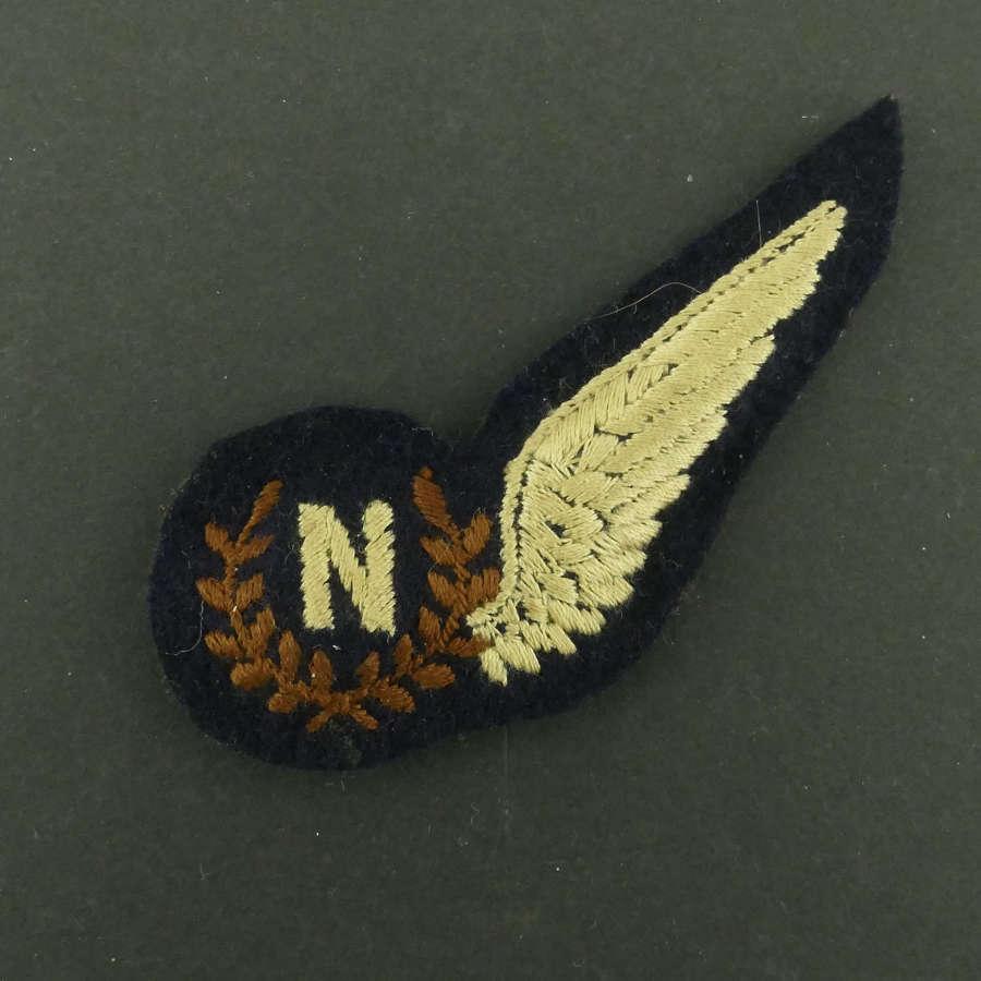 RAF Navigator brevet, padded