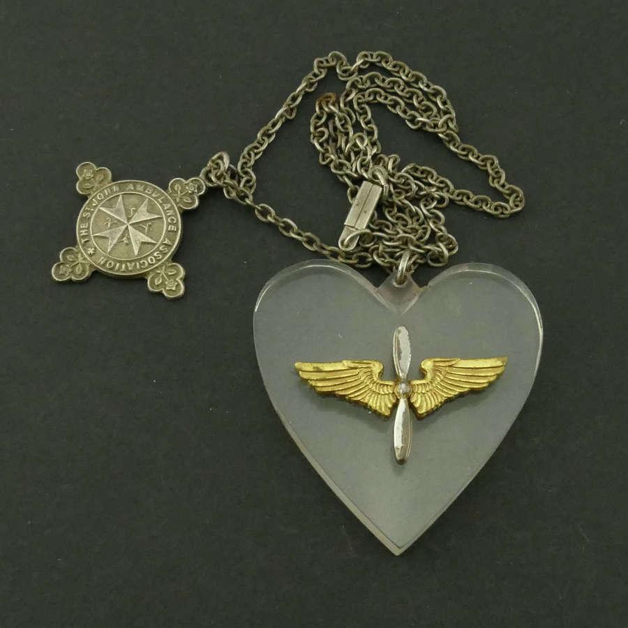 USAAF / St. John's Ambulance pendant