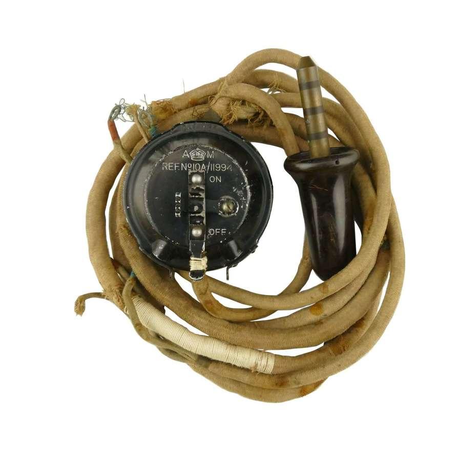 RAF external wiring loom with type 20 microphone