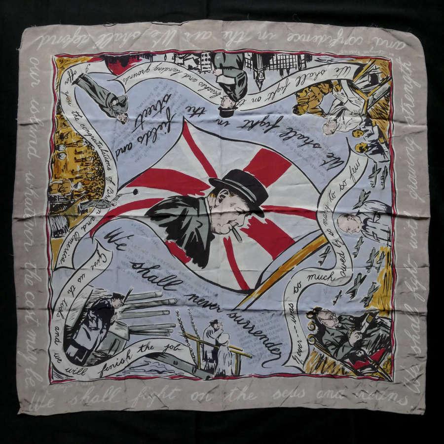 Churchill propaganda scarf