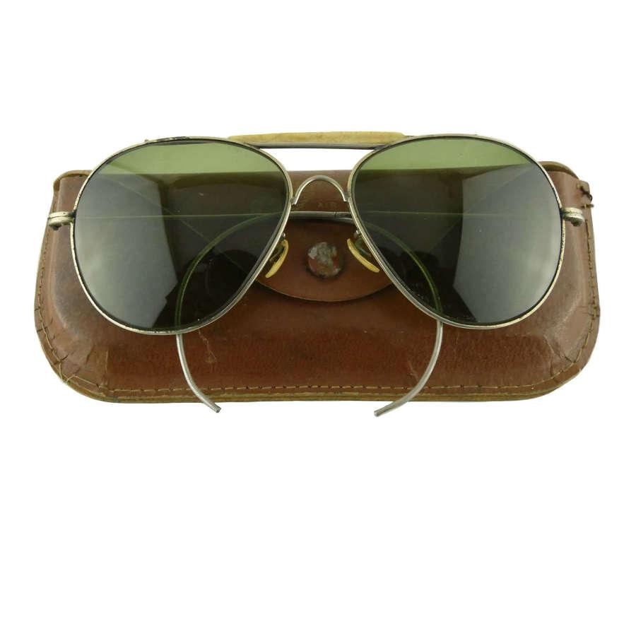 USAAF type sunglasses, cased