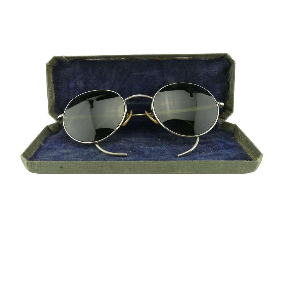 RAF Mk.VIII flying spectacles, cased