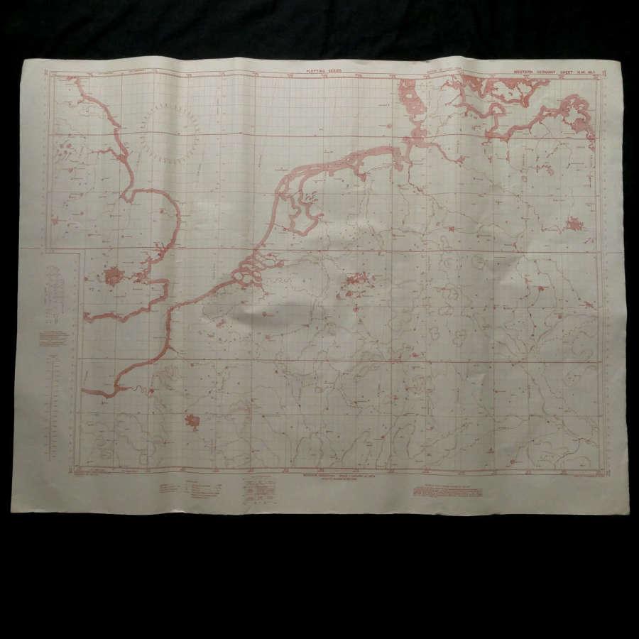 RAF Plotting map - Western Germany