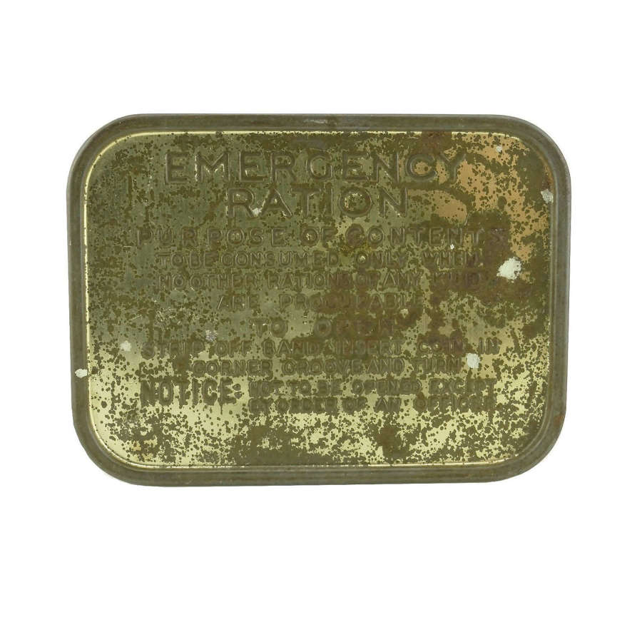British Emergency Ration Tin