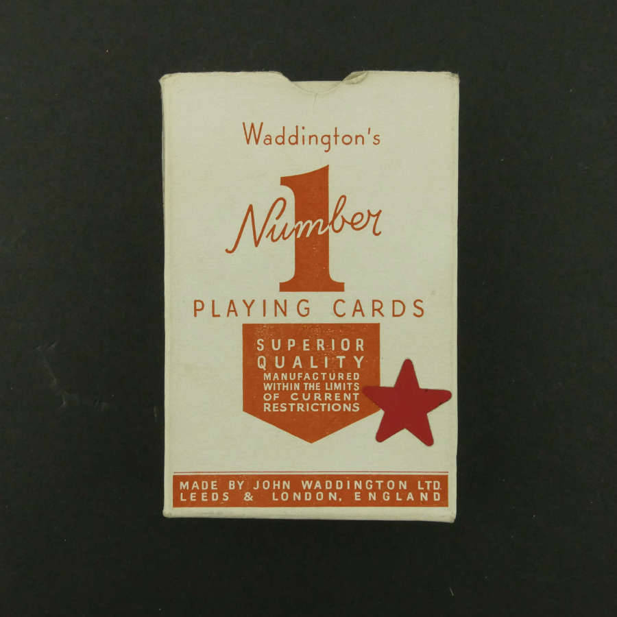 Wartime playing cards - red pack