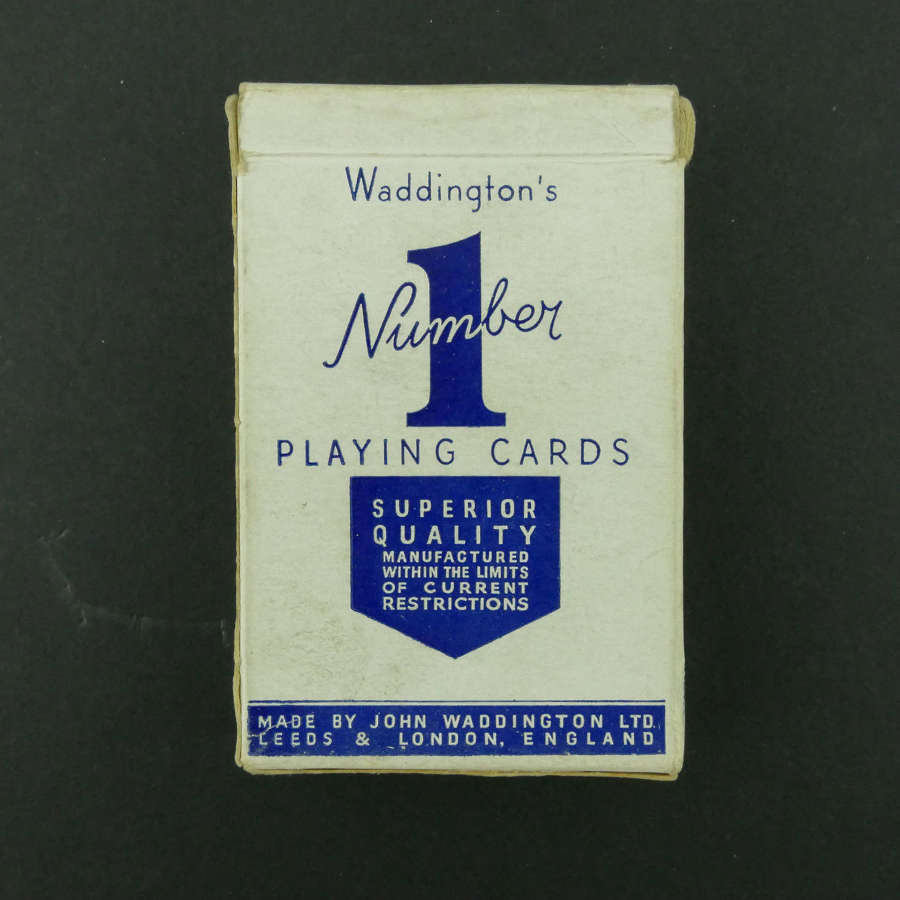Wartime playing cards - blue pack