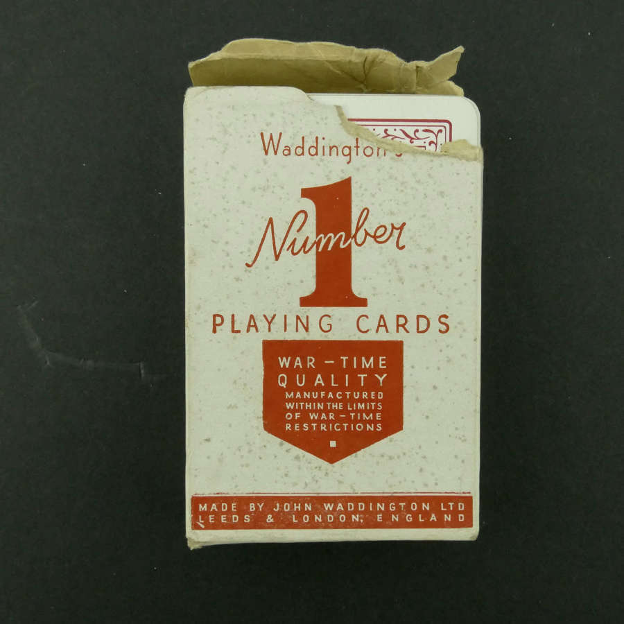 Wartime playing cards