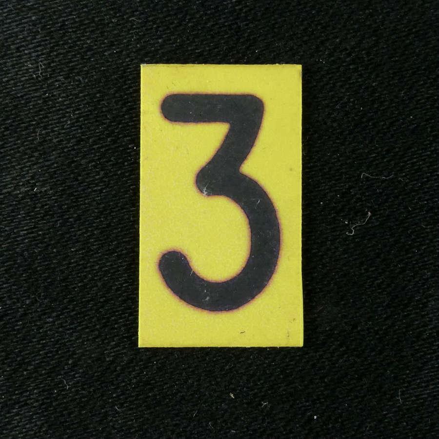 RAF operations room raid block tile number, '3'