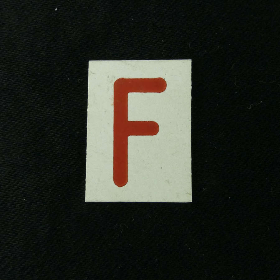 RAF operations room raid block tile, 'F'