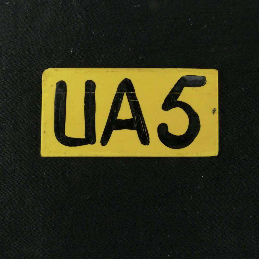 RAF operations room raid block tile, 'UA5'