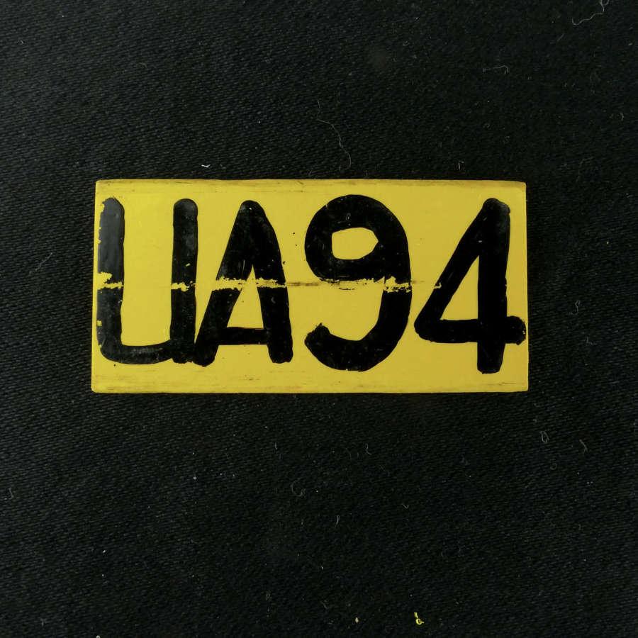 RAF operations room raid block tile, 'UA94'