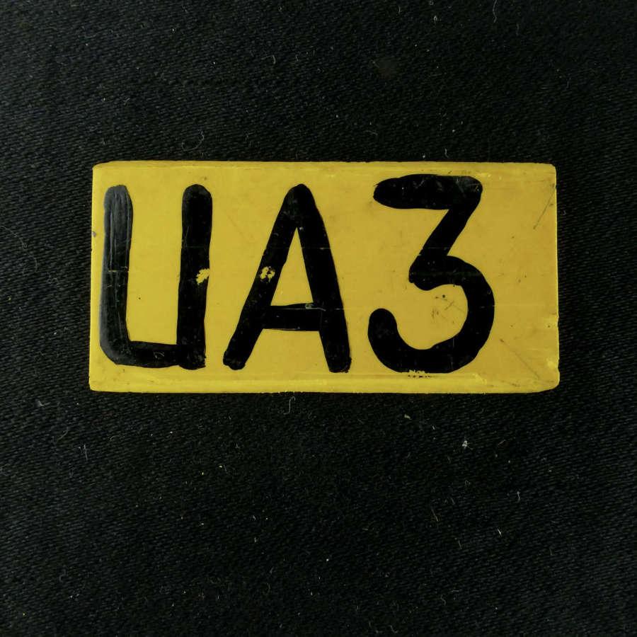 RAF operations room raid tile, 'UA3'
