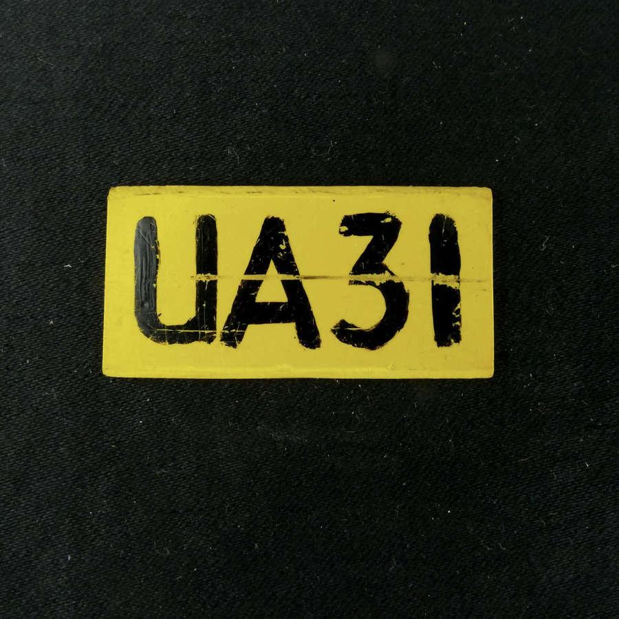 RAF operations room raid block tile, 'UA31'